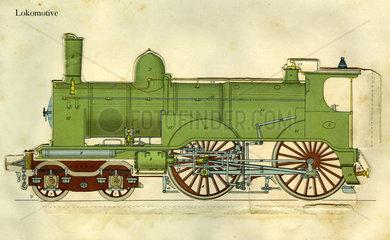 amerikanische Dampflokomotive  1900