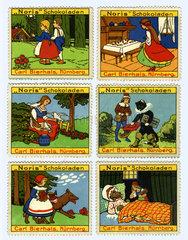 Maerchen der Gebrueder Grimm  Reklamemarken  1912