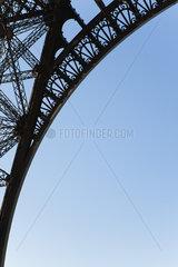 Arch of Eiffel Tower  Paris  France
