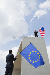The United States competes economically with the European Union