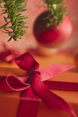 Christmas gift  close-up