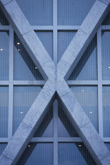X-shaped architectural detail