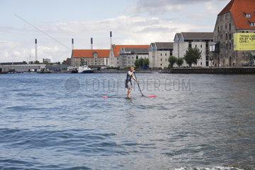 Stand-up Paddling in Kopenhagen