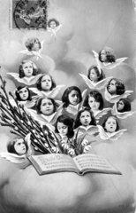 14 Kinder als Engel  1910