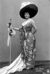 Frau Hut Abendkleid