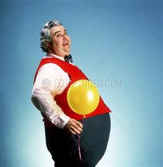 Dicker mit Lufballon