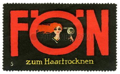 AEG Werbemarke Foen  1913