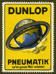Dunlop  Reifenwerbung  Reklamemarke  1913