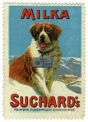 Milka Schokolade  Suchard  Reklamemarke  1913