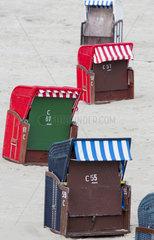 Strandkoerbe auf Borkum