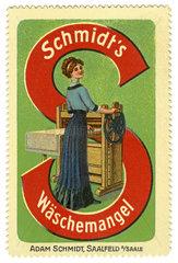 Waeschemangel  Reklamemarke  1913