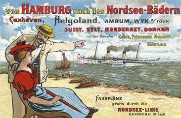 Seebaederdienst  Tourismus-Werbung  1899