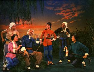 Schauspieler in chinesischer Oper 1960er