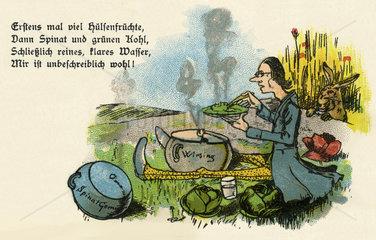 Vegetarier  Humor  1899