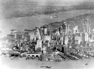 Manhattan und dem Hudson
