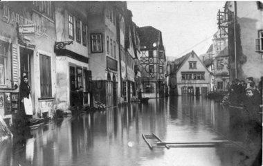 Ueberschwemmung in einer Stadt