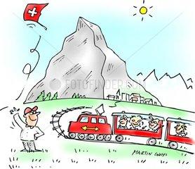 urlaub schweiz glacier express zug matterhorn