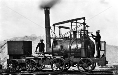Erste Lokomotive Puffing Billy ca. 1870
