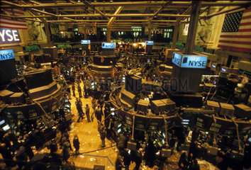Innenansicht der Boerse an der Wall Street