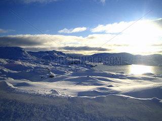 Schneelandschaft in Norwegen