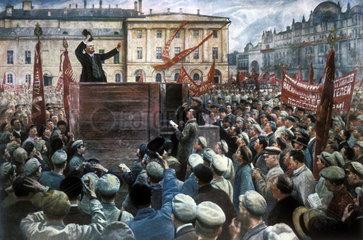 Lenin. Gemaelde von Isaak Brodski