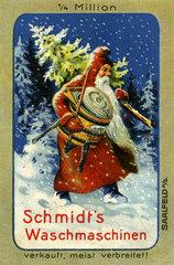 Schmidt's Waschmaschinen  Reklamemarke  1913