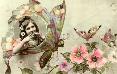 Maedchen im Schmetterling