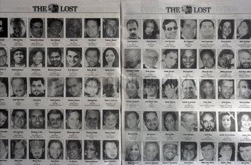Anzeige ueber die Vermissten des 11. September