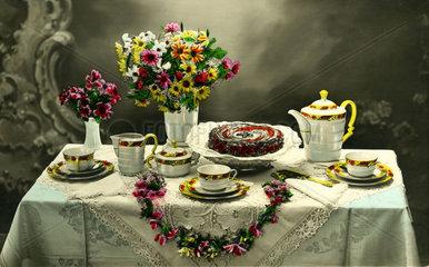 Geburtstags-Kaffee-Tisch