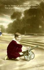 Junge mit Kanone  1920
