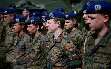 Die Bundeswehr bei der Vorbereitung auf einen Einsatz in Kongo