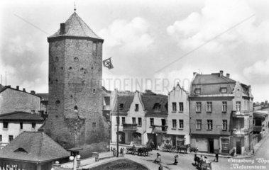 Strassburg  mit Hakenkreuzfahne