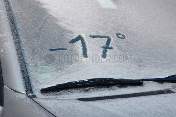 minus 17 Grad