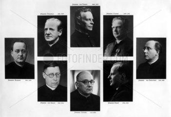 8 Portraits von Geistlichen  1868-1948