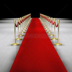 Roter Teppich mit Absperrung