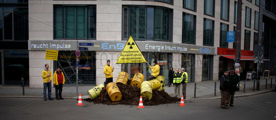 Greenpeace activists protest against German energy supplier EnBW