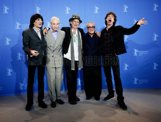 Rolling Stones pose during a photocall