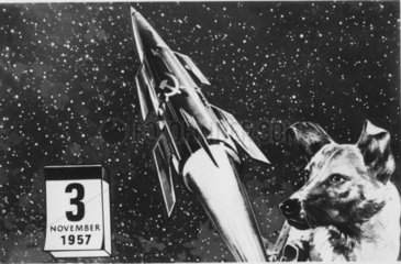 Weltraumhund Laika - Rakete - Hund - Kalenderblatt