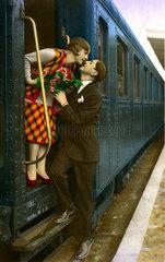 Abschied am Zug