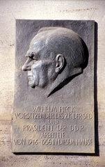 Gedenktafel Wilhelm Pieck