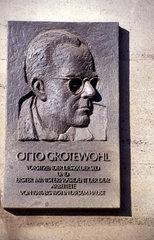 Gedenktafel Otto Grotewohl 1. Ministerpraesident der DDR