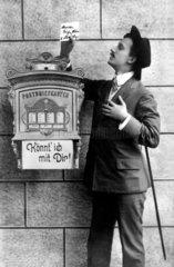 Mann Sehnsucht Briefkasten