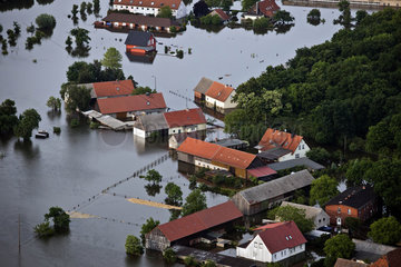 Hochwasser Katastrophe Elbe Fischbeck