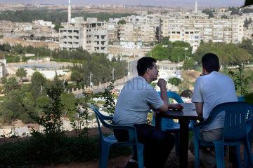 Blick auf das Stadtzentrum von Hama