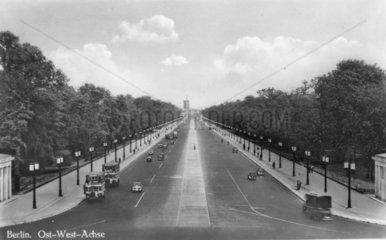 Berliner Ost-West Achse  1938