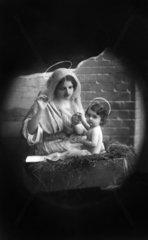 Maria und Jesus mit Heiligenschein