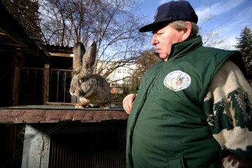 Karl Szmolinsky  rabbit breeder