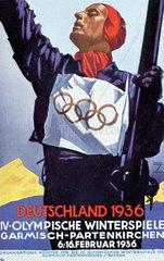 Olympiade 1936 Plakat