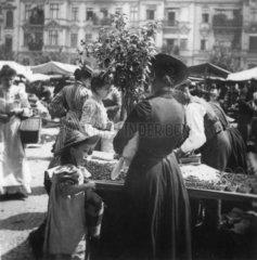 Markttag in Berlin  ca. 1900