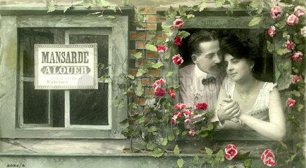 Paar in Mansarde